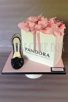 Something for Her, Pandora gift bag with edible shoe