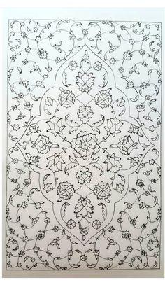 - #planodefundo Islamic Art Pattern, Arabic Pattern, Pattern Art, Saree Painting Designs, Glass Painting Designs, Marble Painting, Ceramic Painting, Stencil Designs, Paint Designs