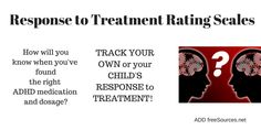 Response to Treatment Rating Scales - ADD freeSources Adhd Test, Rating Scale, Adhd Medication, Adhd Strategies, Brain Science, Adhd Kids, Back Off
