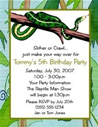 reptile party invitations Google Search Snake party Pinterest