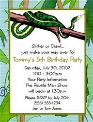 Snake theme birthday invitations the rattler set of 20 printed birthday invitation snake filmwisefo