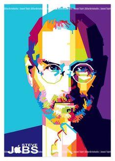 .: Steve Jobs :.  more info and order > gilar,ever@gmail.com #portrait #founder #apple #wpap #portrait #vector #design #fanart #technology #art