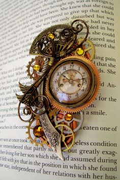 steampunk clock via a quieter storm