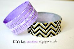 Si tu aimes changer souvent de bijoux : Ce DIY est pour toi ! Fais des bracelets en papier mâché, c'est facile, pas cher et totalement personnalisé !