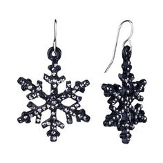 Pugster Christmas Jewelry Snowflake Drop Earrings « Holiday Adds