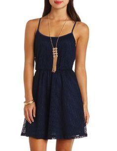 strappy open back crochet dress