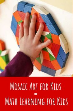 Sensory Wall Mosaic Art for Kids = Math Learning for Kids Preschool Lesson Plans, Preschool Learning, Early Learning, Steam Learning, Art Activities For Kids, Infant Activities, Preschool Activities, Steam Activities, Math For Kids