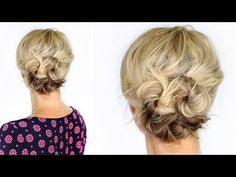 Knotted Updo For Short Hair - Twist Me PrettyTwist Me Pretty