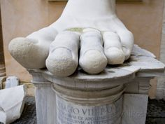 Capitoline rome italy - Constantine statue fragments Google Search