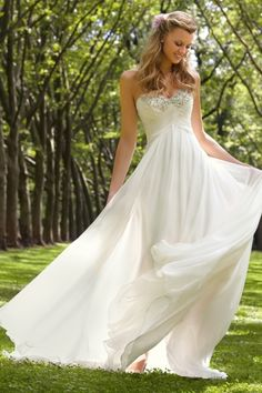 2013 Wedding Dresses Empire Waist Sweetheart Sweep/Brush Train Chiffon Ruffles USD 149.99 BPPQKYN8RS - BrandPromDresses.com