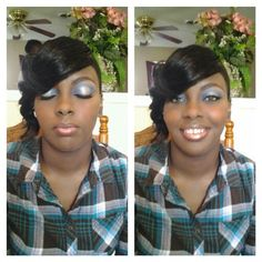 Blue and silver eye makeup Senior prom 2013