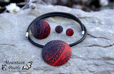 https://flic.kr/p/QX2wHD | Polymer clay set, necklace, ring and earrings by Mountain Pearls | www.facebook.com/mountain.pearls