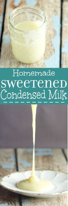 Use this simple, 2-ingredient Homemade Sweetened Condensed Milk Recipe whenever you need sweetened condensed milk but don't have any on hand. | cooking tips | hacks | kitchen