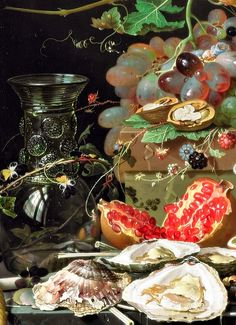 Abraham MIGNON Still Life with Fruits 1679 (Detail). LARGE SIZE PAINTINGS