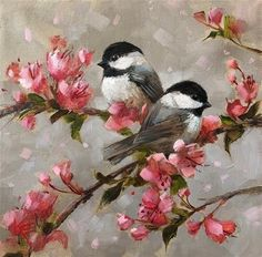"""Daily Paintworks - """"Moment Together"""" - Original Fine Art for Sale - © Krista Ea. - Daily Paintworks – """"Moment Together"""" – Original Fine Art for Sale – © Krista Eaton - Bird Paintings On Canvas, Bird Painting Acrylic, Simple Acrylic Paintings, Watercolor Bird, Acrylic Art, Diy Painting, Watercolor Paintings, Canvas Art, Art Paintings"""