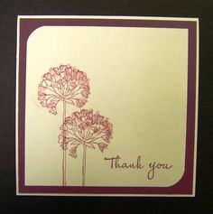 CAS159 Thank You by hobbydujour - Cards and Paper Crafts at Splitcoaststampers