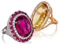 Maxis anéis com pedras preciosas