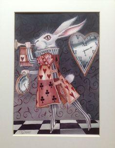 Alice In Wonderland Art White Rabbit Limited Edition Print Dominic Murphy Art