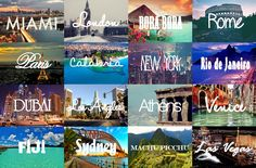 Visit every one of these places. :D um yes!