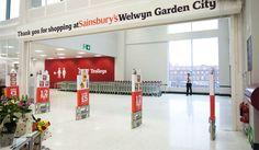 Sainsbury's Welwyn - Twelve Studio Sainsburys, Graphic Design Studios, Case Study, Signage, Commercial, Designers, Spaces, City, Interior
