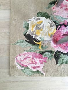Datura floral rose rug from Rugs USA