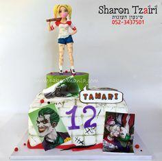 harley quinn and the joker cake  עוגת הארלי קווין והג'וקר by sharon tzairi - cakes-mania