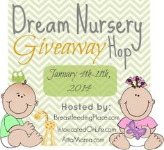 Dream Nursery Giveaway Hop hosted by @Trisha Gilkerson Intoxicated On Life. Blogger sign-ups open!