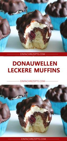 Donauwellen LECKERE Muffins, Food Drink eating breakfast eating dinner eating for beginners eating for weight loss eating grocery list eating on a budget eating plan eating recipes eating snacks Muffin Recipes, Cake Recipes, Cakes Originales, Pumpkin Spice Cupcakes, Food Cakes, Fall Desserts, Savoury Cake, Ice Cream Recipes, Bakery