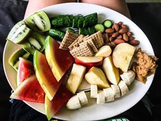 Issa Snack 👅 . . Watermelon, 2 Kiwi, 2 Cucumber, 1 Banana, 1 Apple , PB, Roasted Unsalted Almonds, Balsamic Vinegar Triscuts. . . This is… Balsamic Vinegar, Issa, Kiwi, Savannah, Cucumber, Watermelon, Banana, Cheese