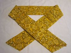 "Extra Wide 3"" Reusable Non-Toxic Cool Wrap / Neck Cooler  - Cowboy/Bandana/Hanky - Yellow by ShawnasSpecialties on Etsy"