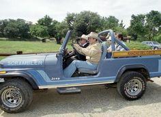 Ronald Reagan in a CJ8