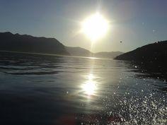 Atardecer en Lago Lácar
