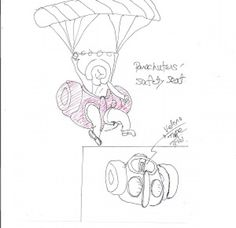 parachuters' safety seat