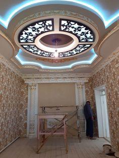 Gypsum Ceiling Design, House Ceiling Design, Ceiling Design Living Room, Bedroom False Ceiling Design, Luxury Bedroom Design, Ceiling Light Design, Ceiling Decor, Floor Design, False Ceiling For Hall