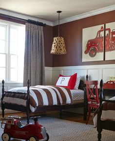 Fire Engine-Themed Children's Room | Shared by LION