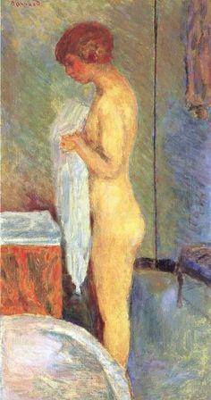 Pierre Bonnard, Marthe à sa toilette, 1919