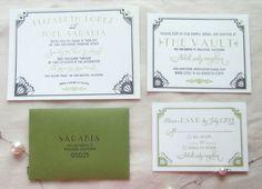 Gatsby Art Deco Inspired Suite Wedding Invitations Photos on WeddingWire