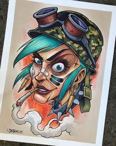 Tank Girl drawing by David Tevenal