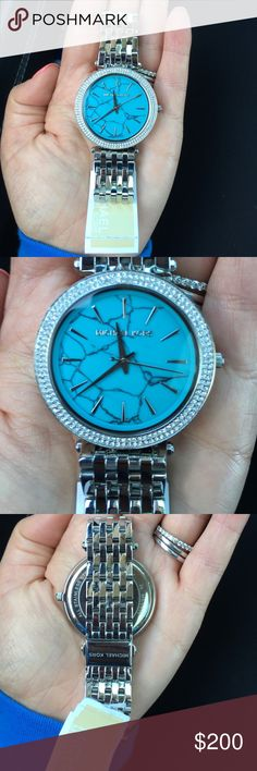 Make an offer! NWT!! Michael Kors watch Gorgeous Michael Kors watch with turquoise face. Perfect summer watch! Michael Kors Accessories Watches
