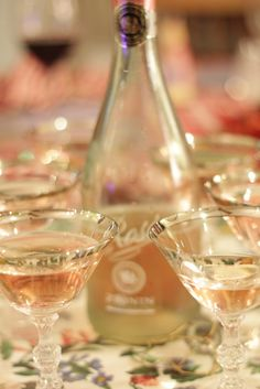 pink champagne.  a must for bachelorettes.