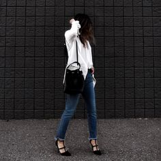 Polished in Parker Smith Denim. We adore the SHARK BITE STRAIGHT in Ventura on @oneluckyorchid. Find it at Neiman Marcus