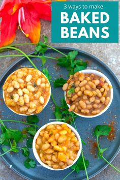 3 Easy ways to make baked beans using dry navy beans and simple seasonings #healingtomato #bakedbeans #vegan #homemade #beans Vegetarian Comfort Food, Vegetarian Crockpot Recipes, Beef Recipes, Bbq Vegetarian, Pressure Cooker Baked Beans, Healthy Recipe Videos, Healthy Pastas, Vegan Baking, Vegan Food
