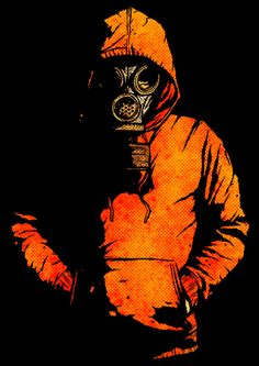 Gas mask art - Shading and hood change colors on the hood to a white but keep the shading, add an american flag in the background Ps Wallpaper, Graffiti Wallpaper, Graffiti Art, Gas Mask Art, Masks Art, Gas Masks, Dope Art, Mad Max, Post Apocalyptic