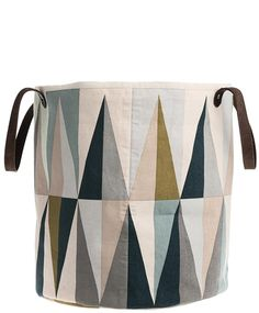 Spear Storage Basket - I love these colors and I think I could quilt this.  Pluuuus it is pretty dang perfect for my living room. Boo to the price. DIY!