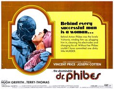 The abominable Dr. Phibes. Classic horror movie Vincent Price