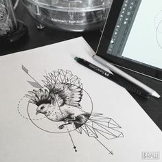 formidable-idée-tattoo-signification-oiseau-tatouage-dessin-adorable