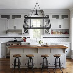 Industrial Bar Stools, Cottage, kitchen, Muskoka Living