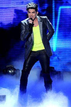 Adam Lambert performs on American Idol