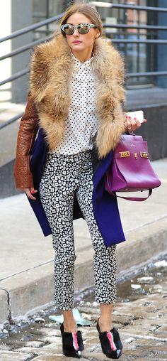 Look da semana - calças estampa leopardo a preto e branco