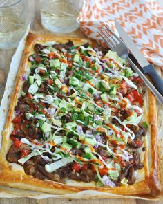 Pasta Recipes, Dinner Recipes, Cooking Recipes, Pizza Wraps, Soul Food, Vegetable Pizza, Food Inspiration, Buffet, Food And Drink